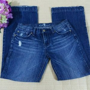 7 For All Mankind (Sz 26) Blue Distressed Jeans